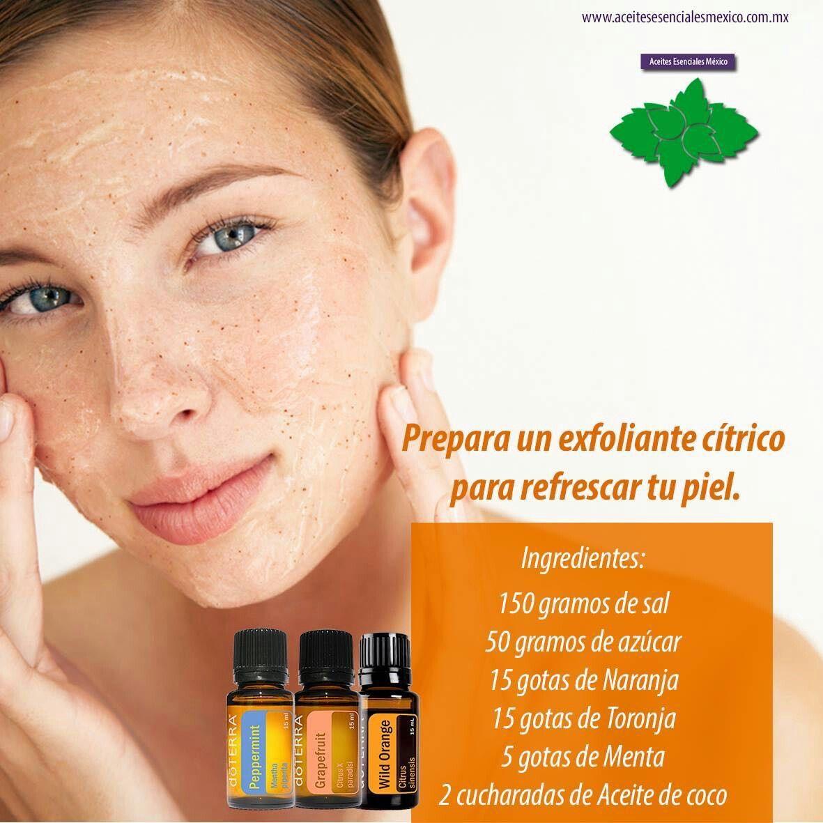Exfoliante para refrescar la piel del rostro