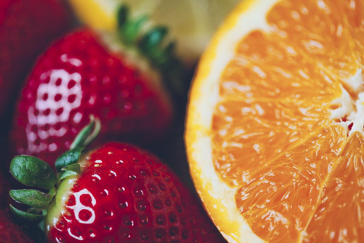 Smoothie de fresas y cítricos